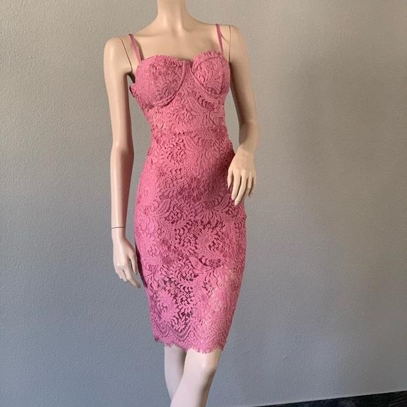 bebe Dresses & Skirts - $64‼️Bebe pink lace party dress size 10